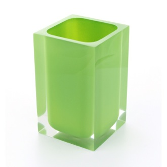 Square Acid Green Toothbrush Holder Gedy RA98-04