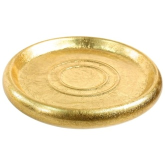 Gold Round Soap Dish in Pottery Gedy SO11-87