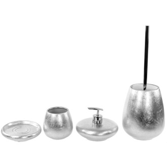 Bathroom Accessory Set 4 Piece Bathroom Accessory Set In Multiple Finishes, SO181 Gedy SO181