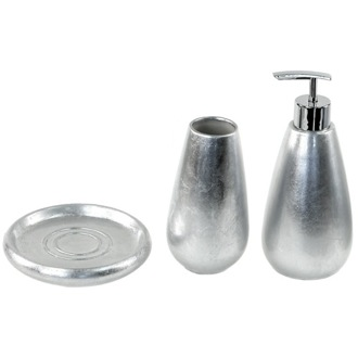 Bathroom Accessory Set Gold or Silver 3 Piece Bathroom Accessory Set Gedy SO280-73