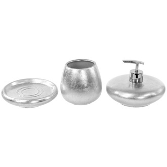 Bathroom Accessory Set Silver or Gold 3 Piece Bathroom Accessory Set, SO281 Gedy SO281