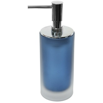 Soap Dispenser Glass Free Standing Blue Soap Dispenser TI81-05 Gedy TI81-05