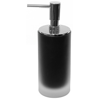 Soap Dispenser Black Glass Free Standing Soap Dispenser Gedy TI81-14