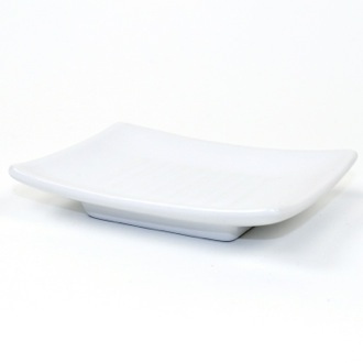 Soap Dish Square White Pottery Soap Dish VE11-02 Gedy VE11-02
