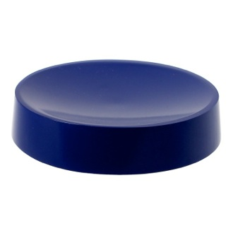 Blue Free Standing Round Soap Dish in Resin Gedy YU11-05