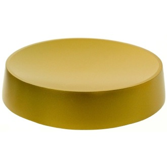Soap Dish Gold Free Standing Round Soap Dish in Resin Gedy YU11-87
