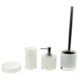 Bathroom Accessory Set Modern 4 Piece Bathroom Accessory Set with Short Soap Dispenser, YU181 Gedy YU181