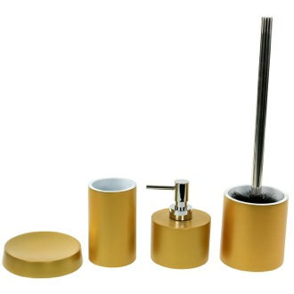 Bathroom Accessory Set Free Standing 4 Piece Bathroom Accessory Set, YU181-87 Gedy YU181-87