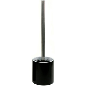Steel Free Standing Black Round Toilet Brush Holder in Resin Gedy YU33-14