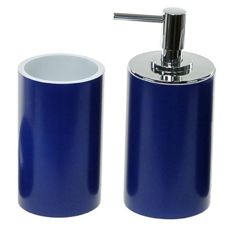 Bathroom Accessory Set Blue Fashionable 2 Piece Bathroom Accessory Set Gedy YU580-05