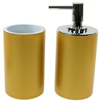 Bathroom Accessory Set Bathroom Accessory 2 Piece Set in Gold, YU580-87 Gedy YU580-87