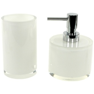 Bathroom Accessory Set 2 Piece Bathroom Accessory Set with Short Soap Dispenser, YU581 Gedy YU581