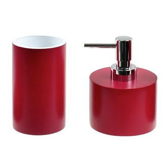 Bathroom Accessory Set With 2 Pieces In Ruby Red Gedy YU581-53