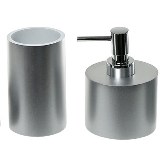 Bathroom Accessory Set With 2 Pieces In Silver Gedy YU581-73