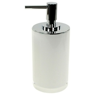 Round White Free Standing Soap Dispenser in Resin Gedy YU80-02