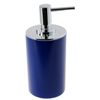 Soap Dispenser Blue Free Standing Round Soap Dispenser in Resin YU80-05 Gedy YU80-05