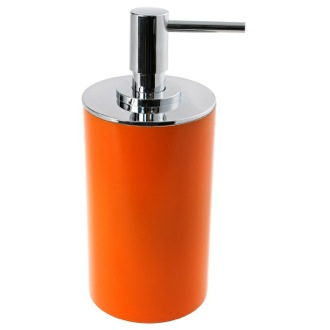 Soap Dispenser Free Standing Round Orange Soap Dispenser in Resin Gedy YU80-67