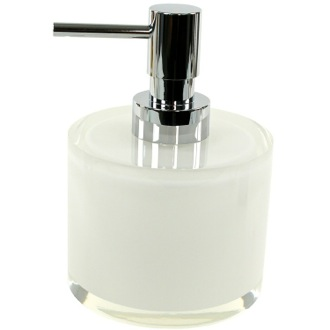 Soap Dispenser Short White and Round Soap Dispenser in Resin YU81 Gedy YU81