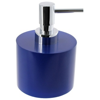 Short and Round Blue Soap Dispenser in Resin Gedy YU81-05