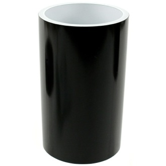 Black and Round Bathroom Tumbler in Resin Gedy YU98-14
