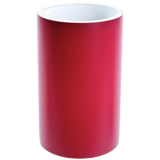 Round Ruby Red Free Standing Toothbrush Holder Gedy YU98-53