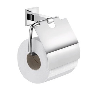 Chrome Wall Mounted Toilet Paper Holder with Cover Gedy 2825-13