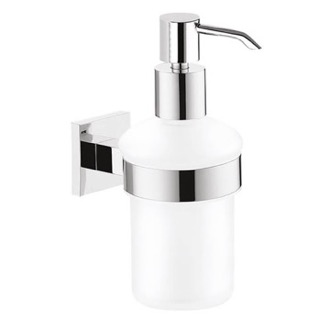 Wall Mounted Frosted Glass Soap Dispenser Gedy 2881-13