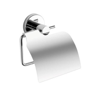 Chrome Toilet Paper Holder With Cover Gedy FE25-13