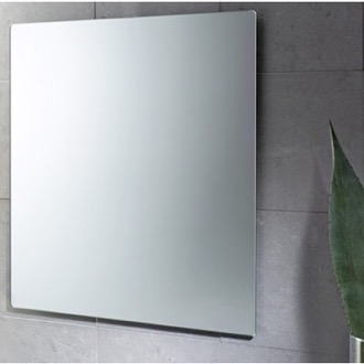 32 x 28 Inch Wall Mounted Vanity Mirror Gedy 9098