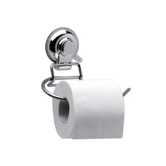 Toilet Paper Holder Toilet Paper Holder With Suction Cup Mounting and Chrome Finish HO24 Gedy HO24