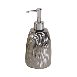 Soap Dispenser Round Silver or Gold Pottery Soap Dispenser Gedy JA80