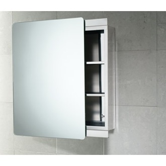 Stainless Steel Cabinet with Sliding Mirror Door Gedy KO07-13