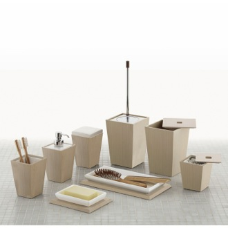 Bathroom Accessory Set Kyoto Oak MDF Bathroom Accessory Set 1500-26 Gedy 1500-26