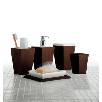Bathroom Accessory Set Kyoto Tanganika MDF Bathroom Accessory Set 1500-31 Gedy 1500-31