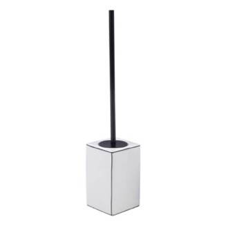 White Pottery Floor Standing Toilet Brush Gedy LC33-02