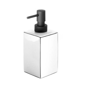 White Pottery Free Standing Soap Dispenser Gedy LC80-02