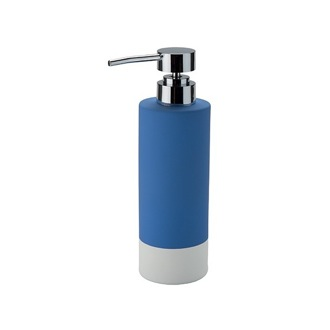 Soap Dispenser Pottery Soap Dispenser With Chrome Pump in Blue Finish Gedy MZ80-11