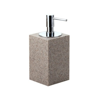 Soap Dispenser Square Free Standing Soap Dispenser in Natural Sand Finish OL80-03 Gedy OL80-03
