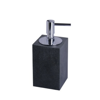 Soap Dispenser Square Free Standing Soap Dispenser in Black Finish Gedy OL80-14