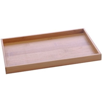Bathroom Tray Tray Made From Wood in Bamboo Finish PO06-35 Gedy PO06-35