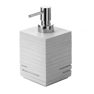 Modern Grey Countertop Soap Dispenser Gedy QU81-08