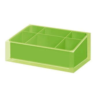 Make-up Tray Made of Thermoplastic Resins in Green Finish Gedy RA00-04