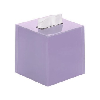 Tissue Box Cover Thermoplastic Resin Square Tissue Box Cover in Lilac Finish RA02-79 Gedy RA02-79