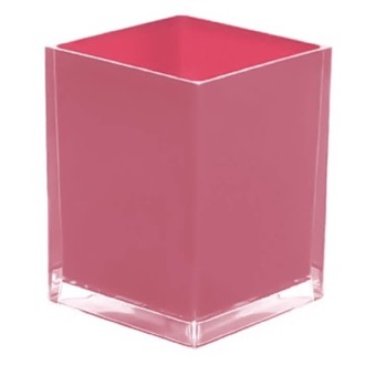 Waste Basket Free Standing Waste Basket With No Cover in Pink Finish RA09-76 Gedy RA09-76
