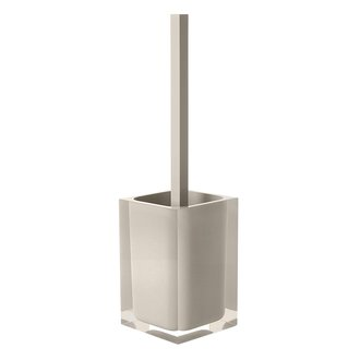 Decorative Square Light Turtledove Toilet Brush Holder Gedy RA33-66