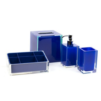 Bathroom Accessory Set Blue Thermoplastic Resins Accessory Set Gedy RA4002-05