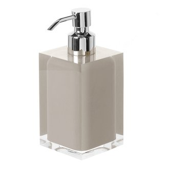 Square Light Turtledove Countertop Soap Dispenser Gedy RA81-66