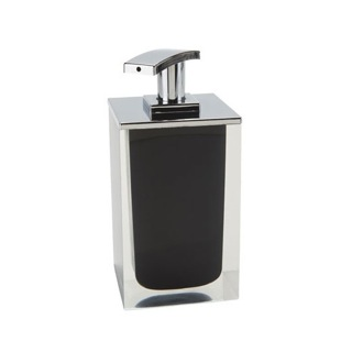 Soap Dispenser Square Soap Dispenser Made From Resin in Black Finish RA82-14 Gedy RA82-14