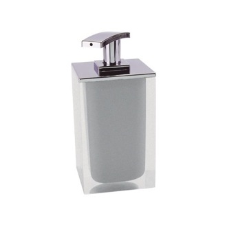 Soap Dispenser Square Soap Dispenser Made From Resin in Silver Finish RA82-73 Gedy RA82-73