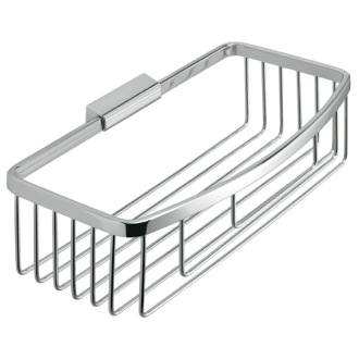 Rectangular Chromed Stainless Steel Wire Shower Basket Gedy S018-13